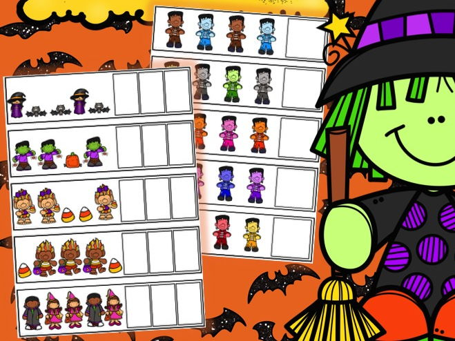 Halloween Sequencing, What Comes Next Task Cards