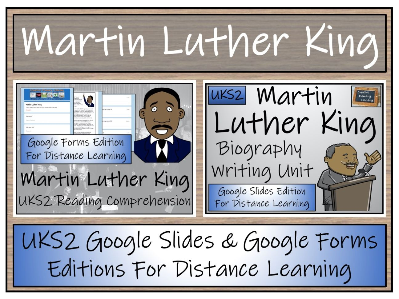 UKS2 Martin Luther King Biography & Reading Comprehension Distance Learning Bundle
