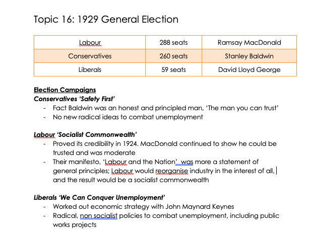 A-Level AQA History Making of Modern Britain: part 4