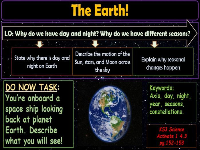 The Earth KS3 Activate Science