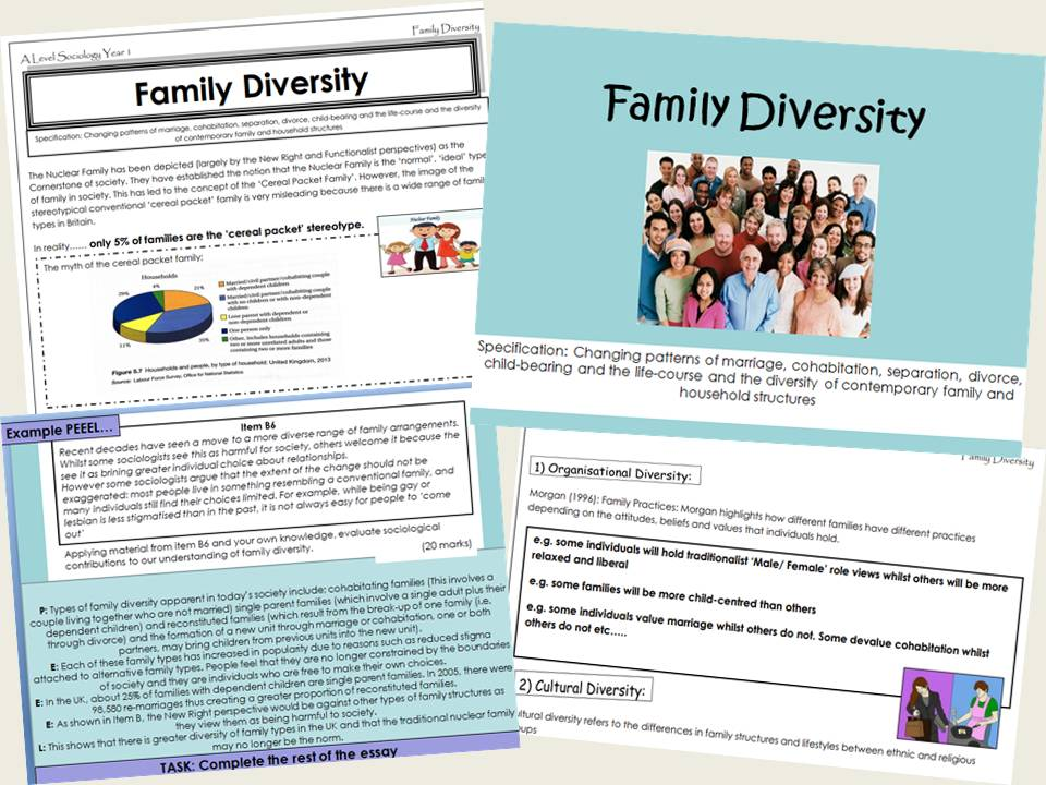 AQA Sociology - Year 1 - Families & Households -  Family diversity