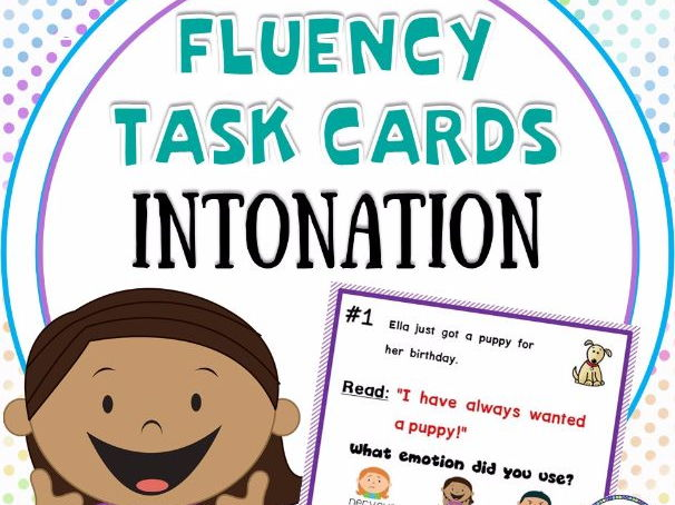 Fluency Task Cards for Intonation Practice