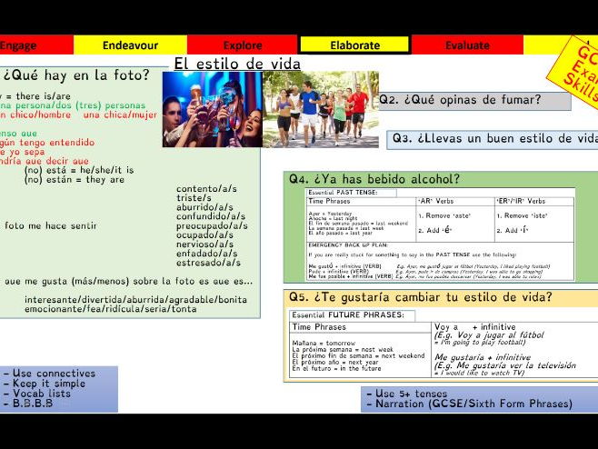 Viva GCSE - Module 8 - Vivir a tope - Lesson 2