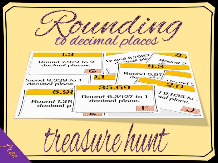 Rounding to decimal places treasure hunt