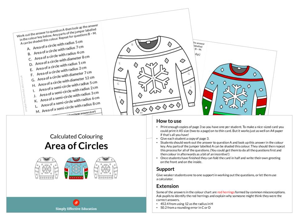 Area of a circle ks3