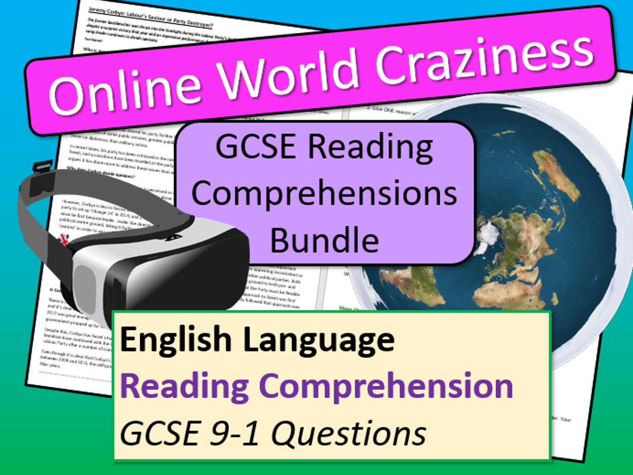 Online World Reading Comprehensions