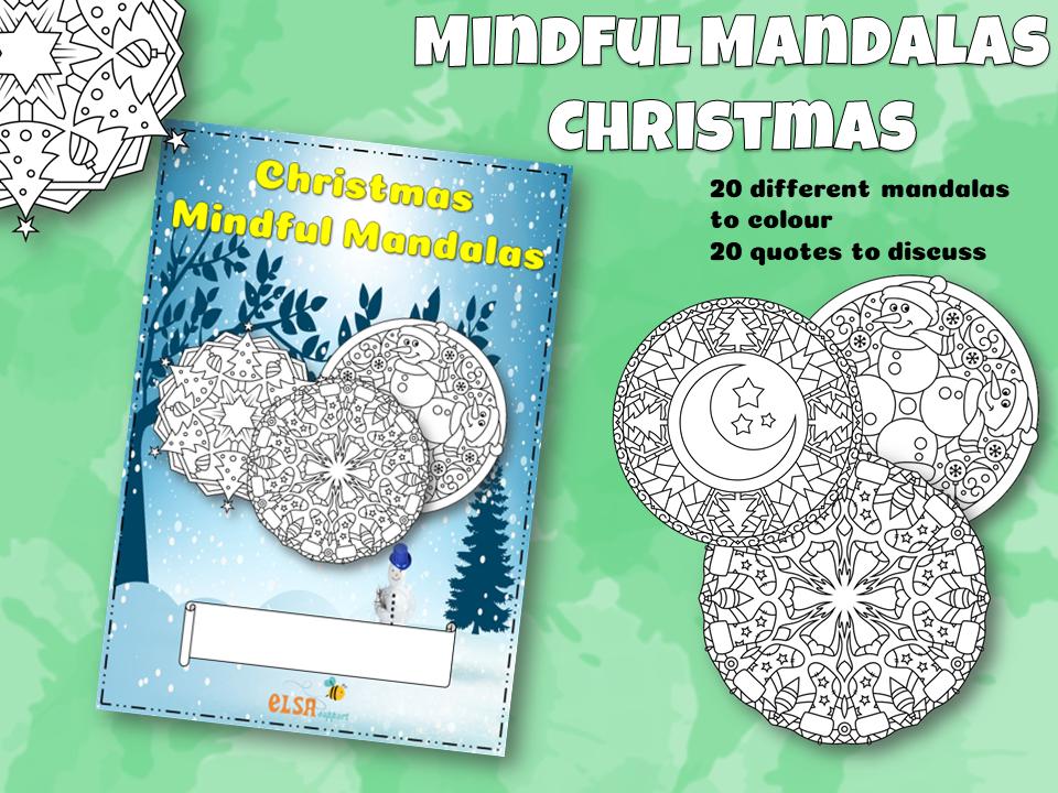 Christmas Mindful Mandala