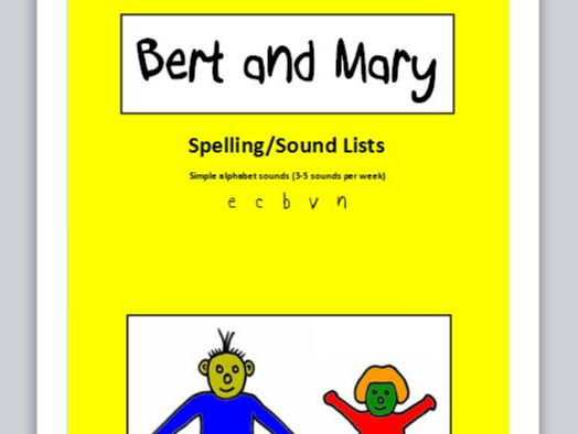Bert and Mary - spelling lists (simple sounds)
