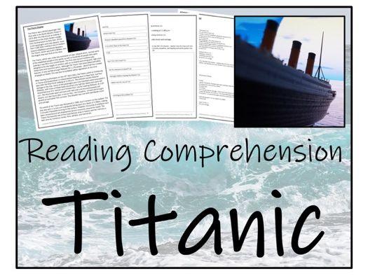 UKS2 History - Titanic Reading Comprehension Activity