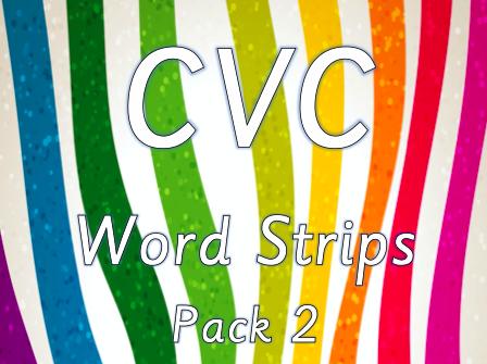 CVC Word Strips - Pack 2
