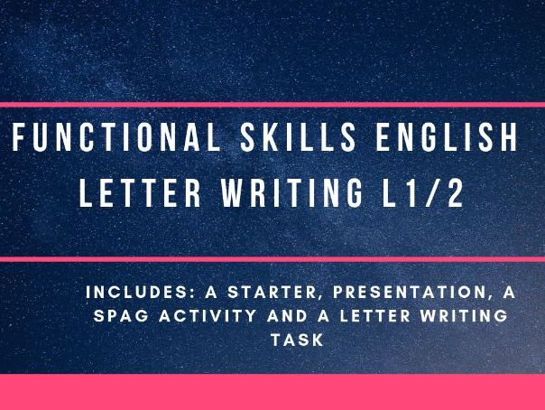 Letter writing  - Functional Skills English