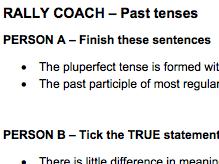 Rally Coach - Peer Assessment Task - Past Tenses