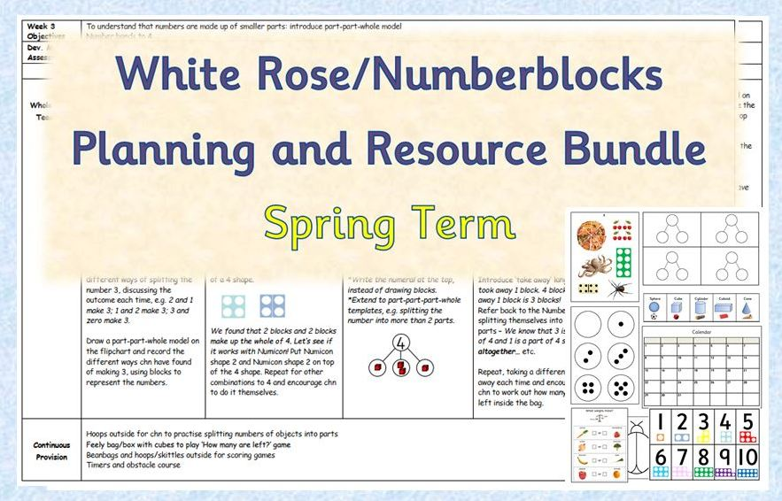 Maths Planning and Resource Bundle - White Rose/Numberblocks Spring Term