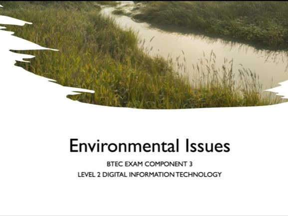 Environmental Issues and their impact on ICT and business