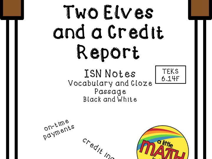 Two Elves and a Credit Report