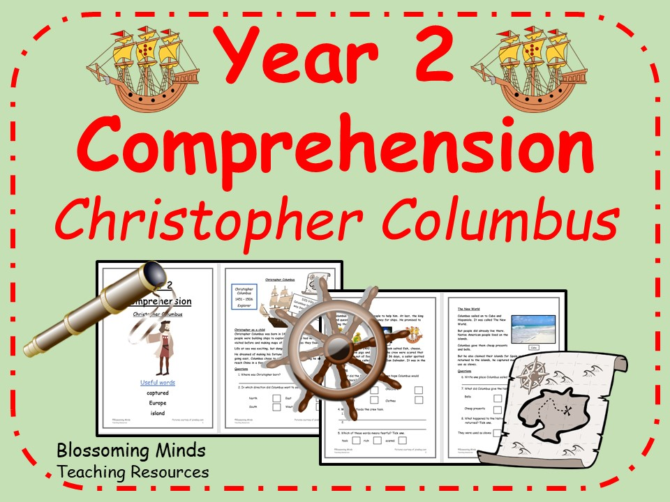 KS1 SATs comprehension - Christopher Columbus - history