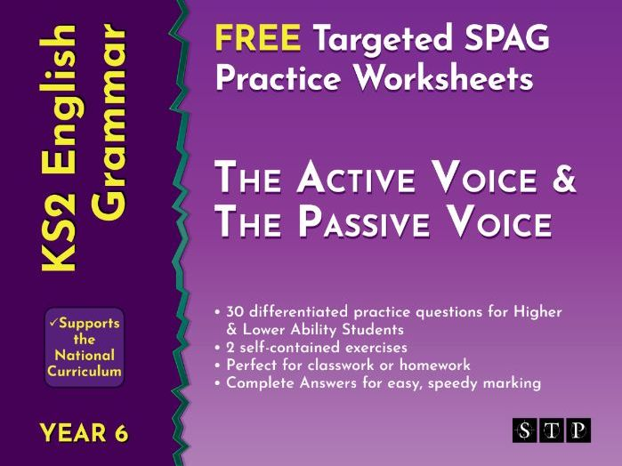 Active and Passive Voice Free Worksheets