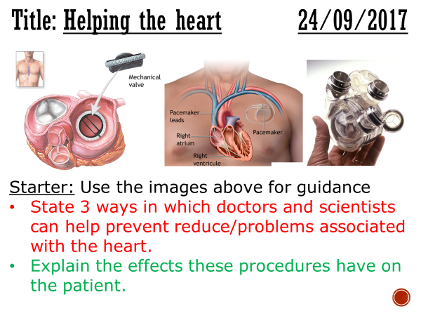 Helping the heart - complete lesson (GCSE 1-9)