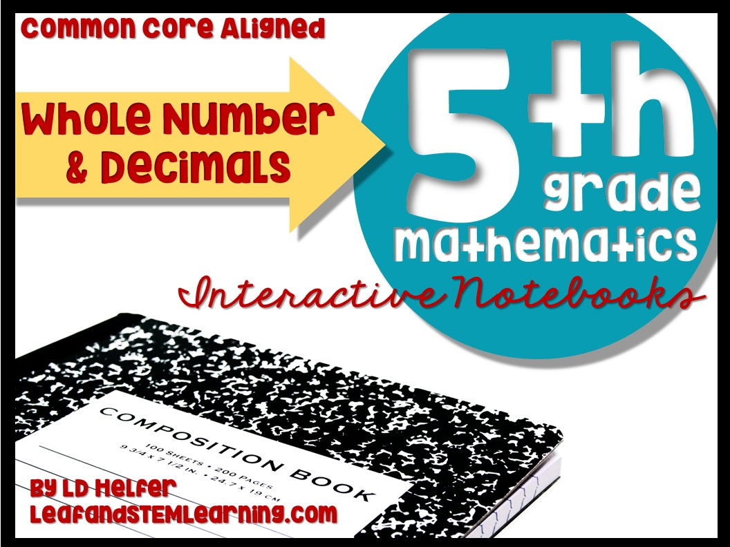 Grade 5 Whole Number and Decimal Common Core Interactive Notebooks