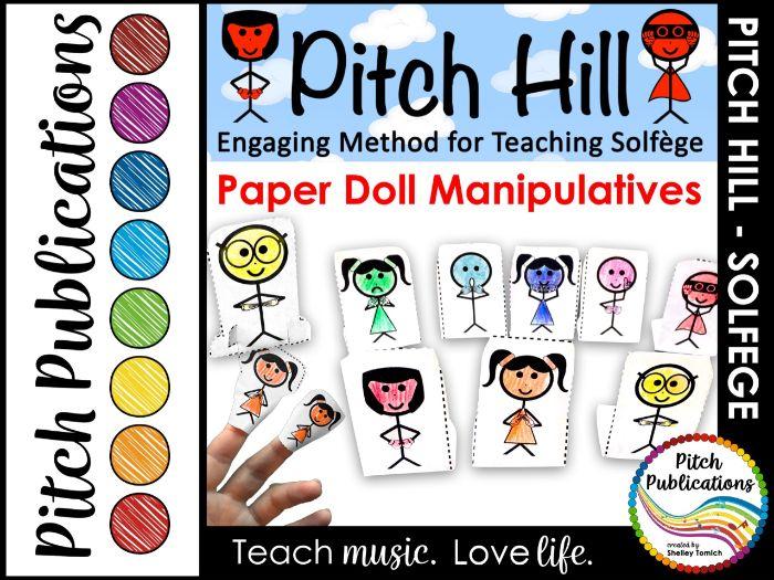 Pitch Hill: Teaching Solfege Method Paper Puppet Manipulatives!