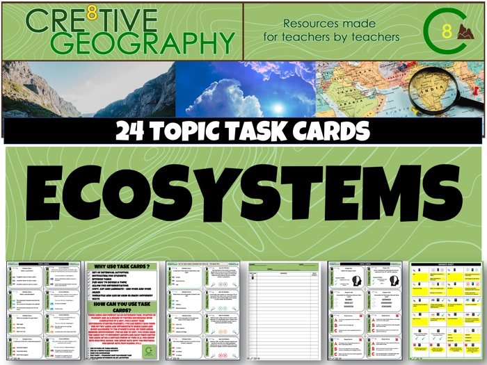 Ecosystems Geography Task Cards