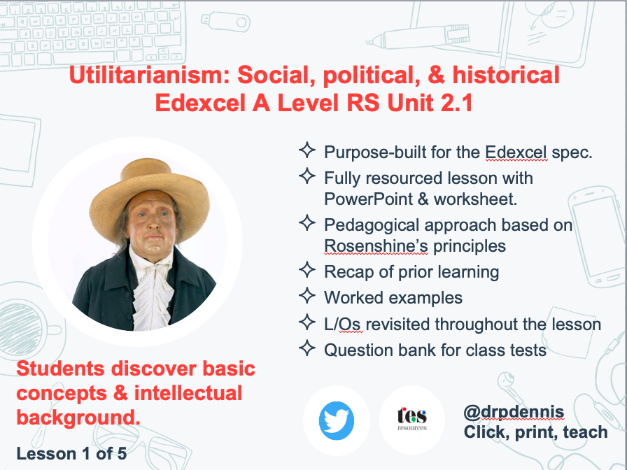 Utilitarianism: Social, political, & historical background (Edexcel new spec)