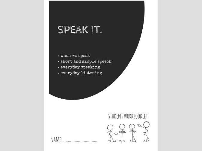 SPECIAL EDUCATION - LITERACY - SPEAK IT (3) workbooklet