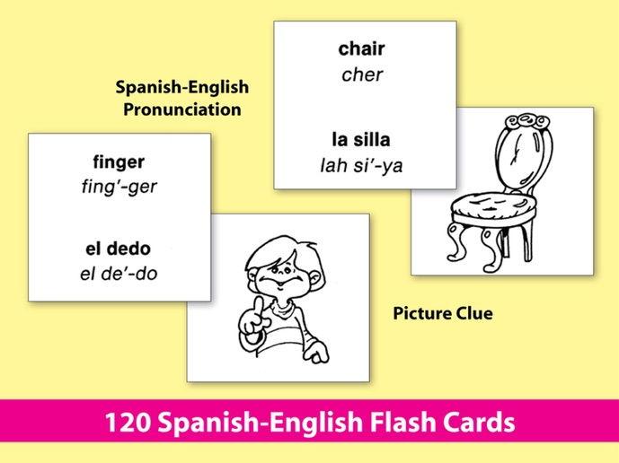 Spanish-English Vocabulary-Building Activities & Flash Cards 2 {Bundle}