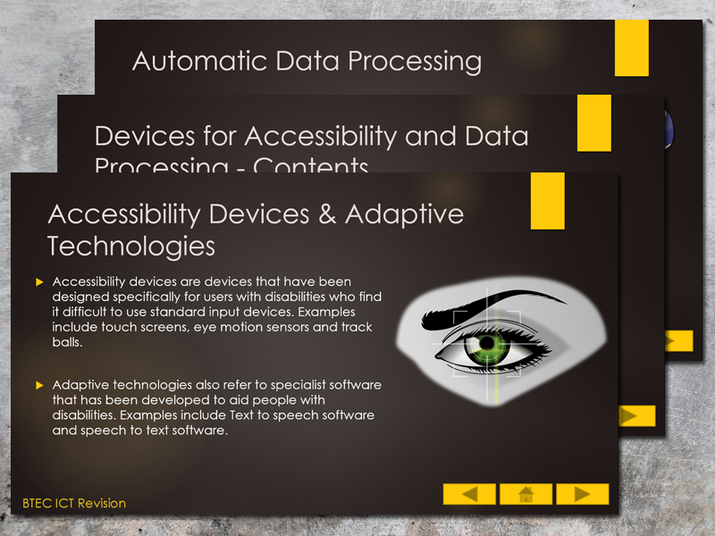 BTEC ICT (2016) UNIT 1 Information Technology Systems Revision Presentation (Accessibility)