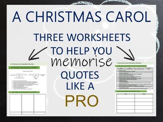 A CHRISTMAS CAROL quotation revision