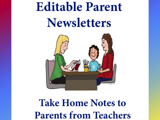Editable Parent Newsletters: Take Home Notes from Teachers to Parents