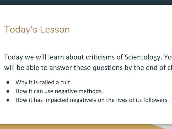 Scientology - Criticisms