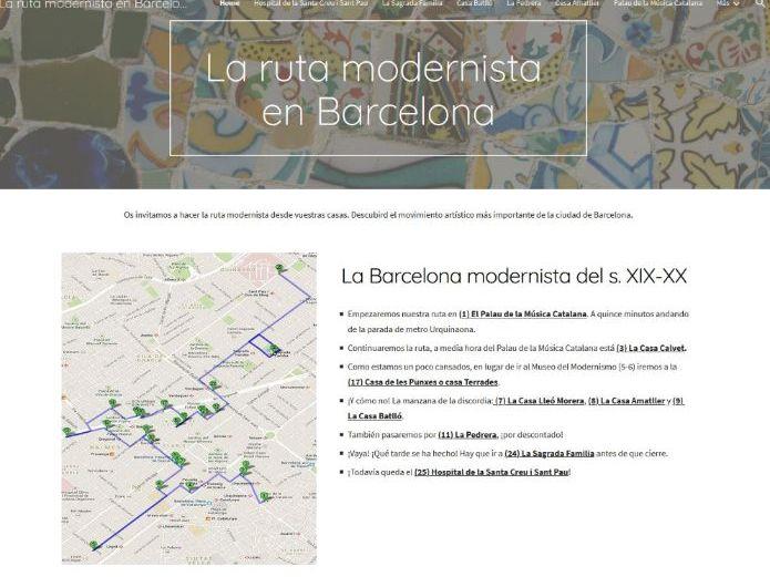 La ruta modernista - Spanish A Level