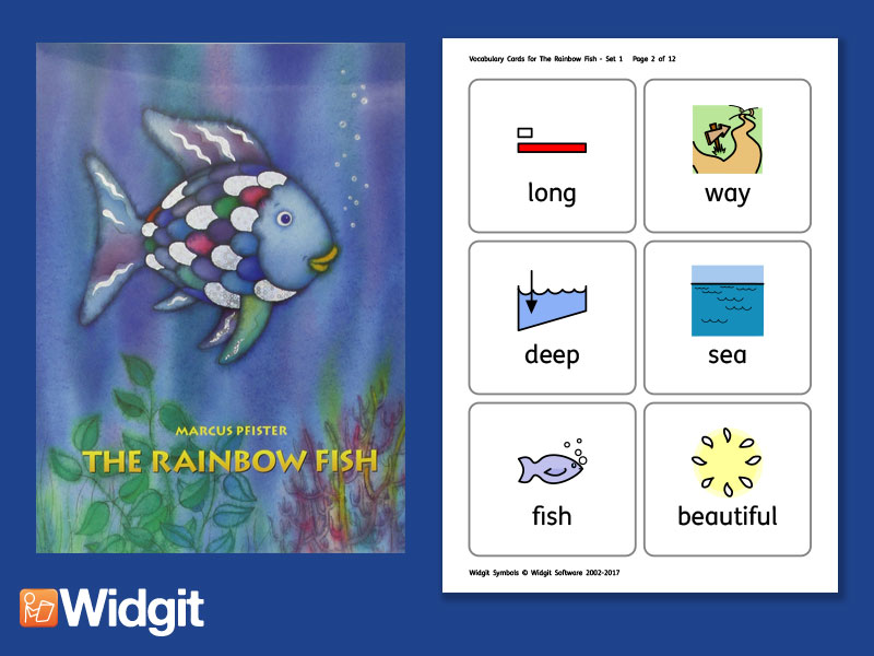 The Rainbow Fish - Big Book Flashcards with Widgit Symbols
