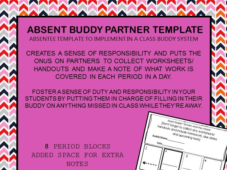 FREEBIE: Absent Buddy Template