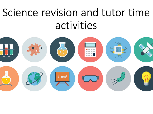 GCSE Combined Science revision/tutor time activities