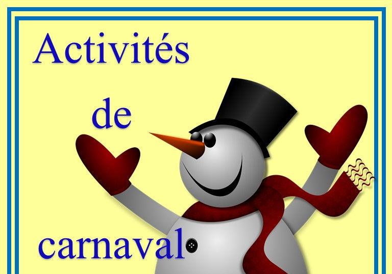 Activités de carnaval