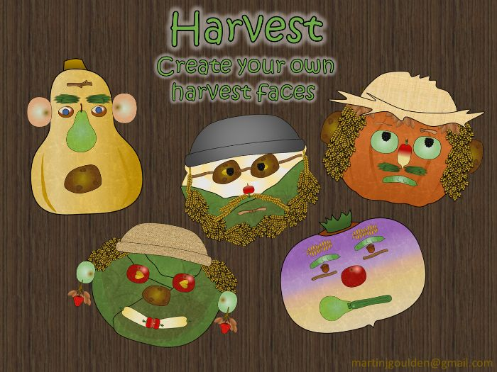 Autumn Harvest - Create your own face out of fruit and veg! Digital