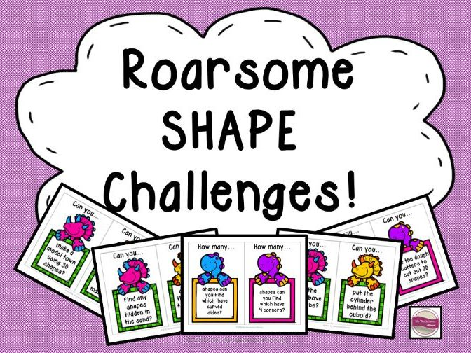 Shape Challenge Cards for Maths Area