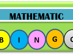 BIDMAS Mathematic bingo