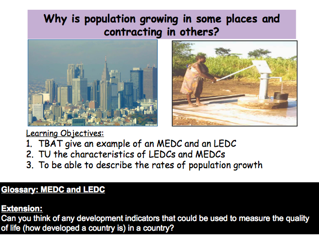 Lesson 3: Why is population growing in some places and contracting in others?