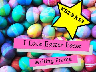 I Love Easter Poem Writing Frame