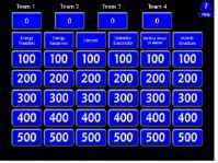 GCSE-NEW-SPEC-AQA-Physics Paper 1 - Jeopardy Revision Game