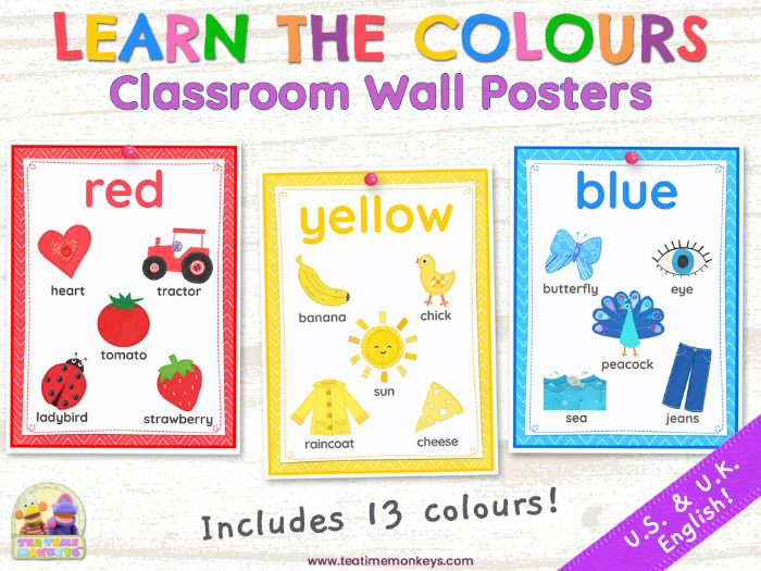 LEARN THE COLOURS – Classroom Wall Posters