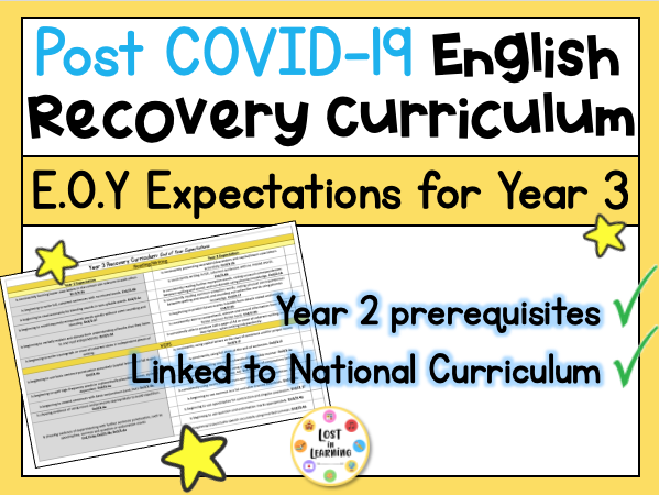 Post-COVID Year 3 English Expectations (Recovery Curriculum)