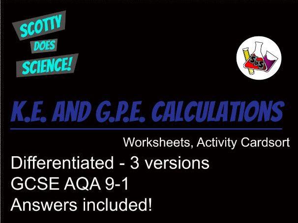 GCSE KE and GPE worksheets