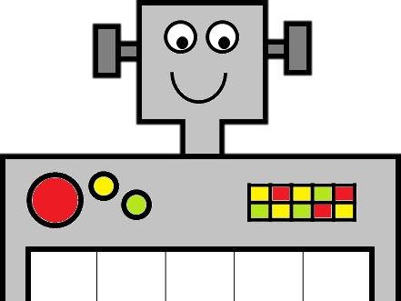 Robot Ten Frames - PDF, PowerPoint & ActivInspire