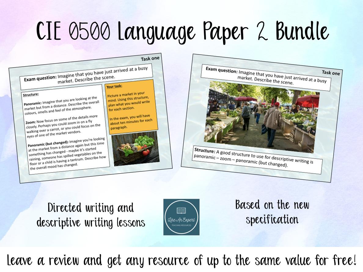 Cambridge IGCSE 0500 English Language Paper 2 Bundle
