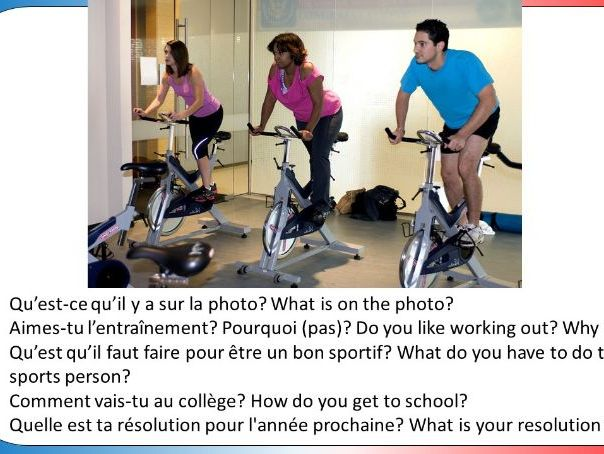 Studio 3 Module 2 (Bien dans sa peau) GCSE Style role play, picture description and translation