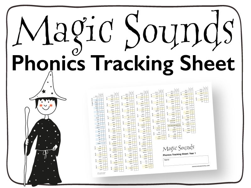 Phonics Tracking Sheet: Year 1 - One Page Tracking